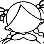 Create Own Girl Face Empty Coloring Page