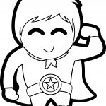 Cute Boy Heroes Coloring Page