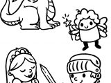 Cute Cartoons Of Fairy Tale Coloring Page