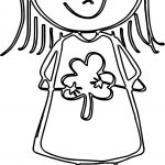 Cute Friendship Girl Coloring Page
