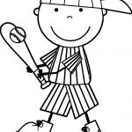 Cute Kids Playing Baseball Coloring Page