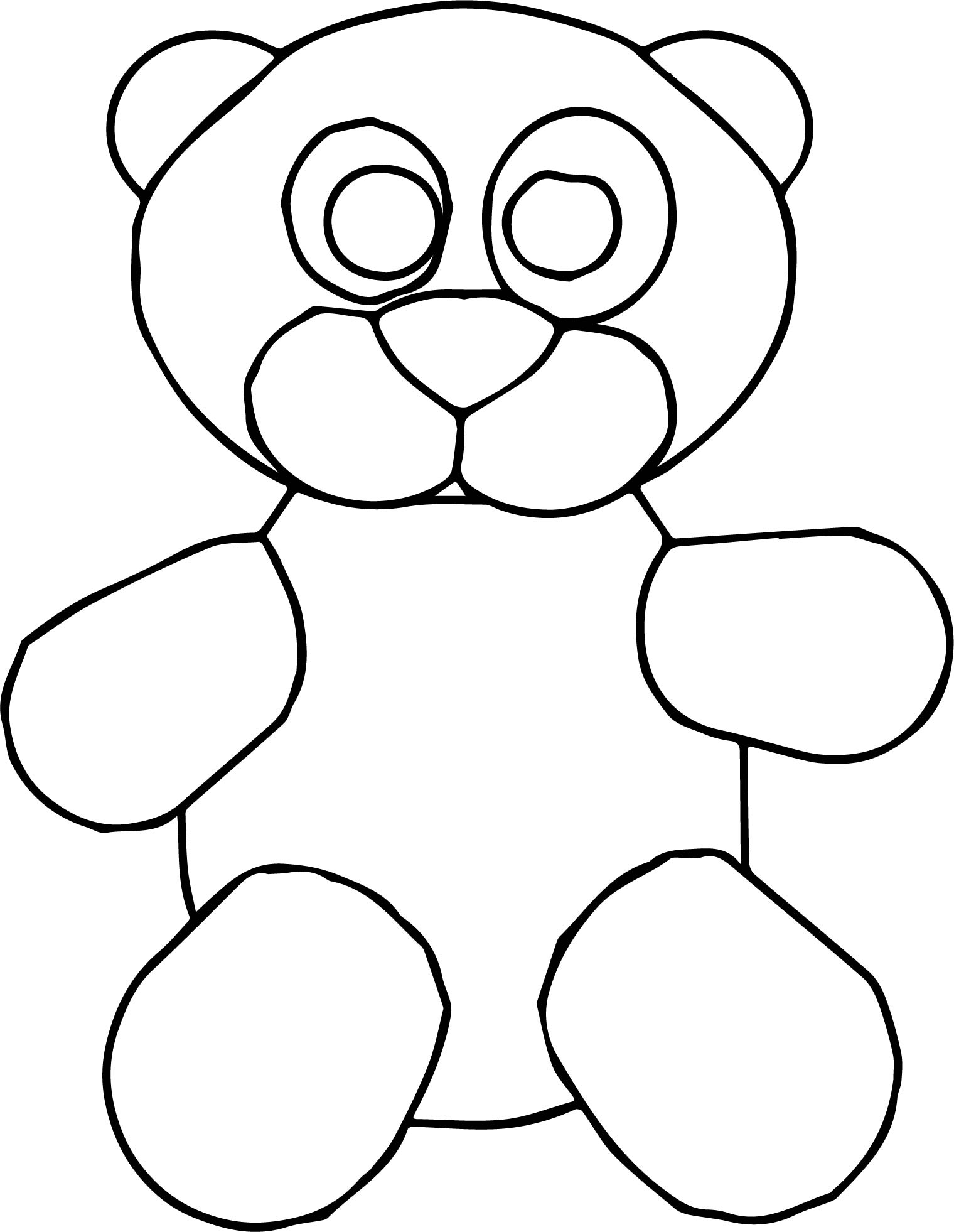 Cute Toy Bear Cartoon Coloring Page