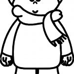 Cute Winter Child Coloring Page