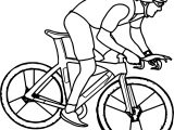 Cycling Bike Coloring Page