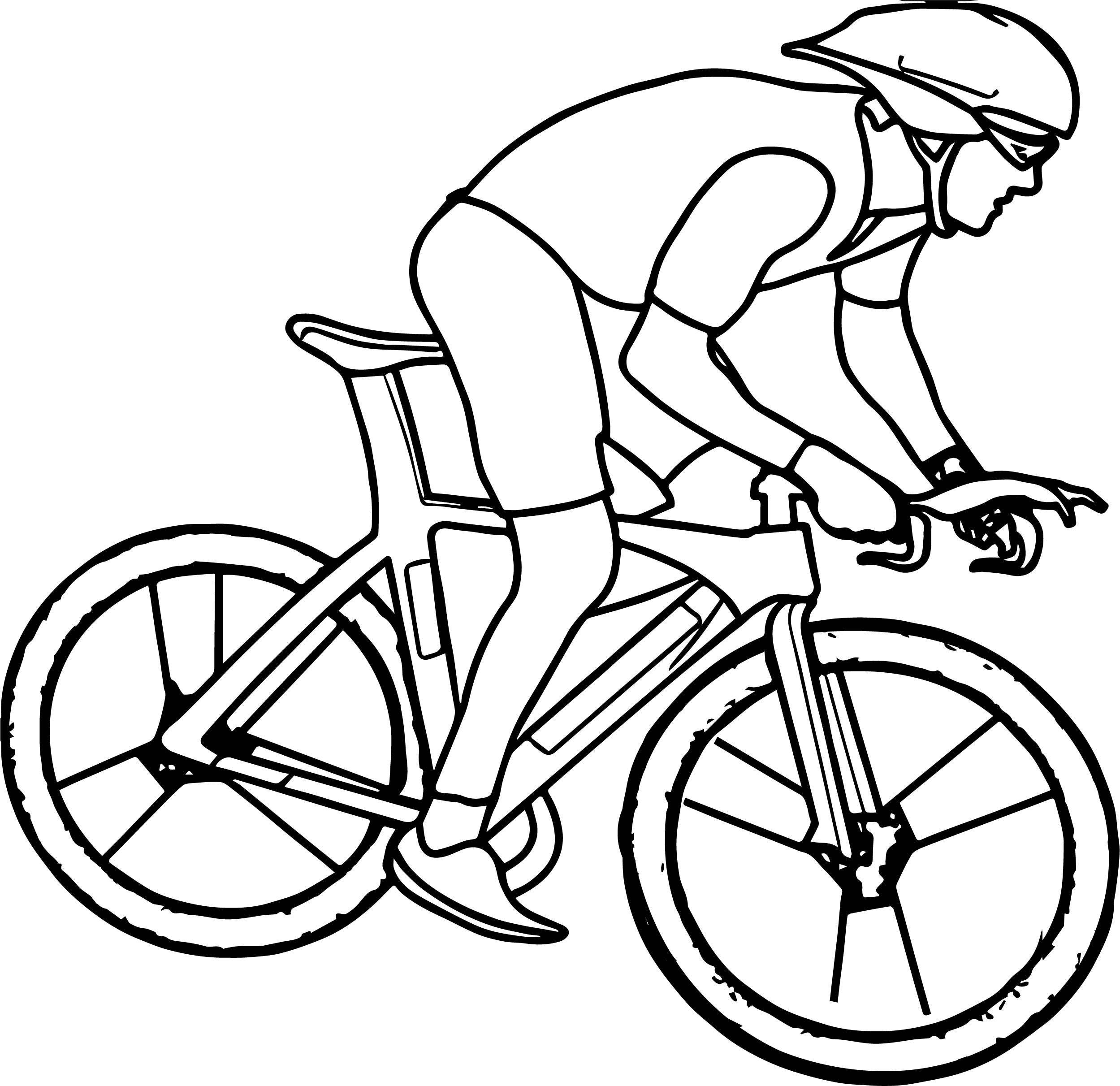 Cycling bike coloring page for Coloring pages bikes