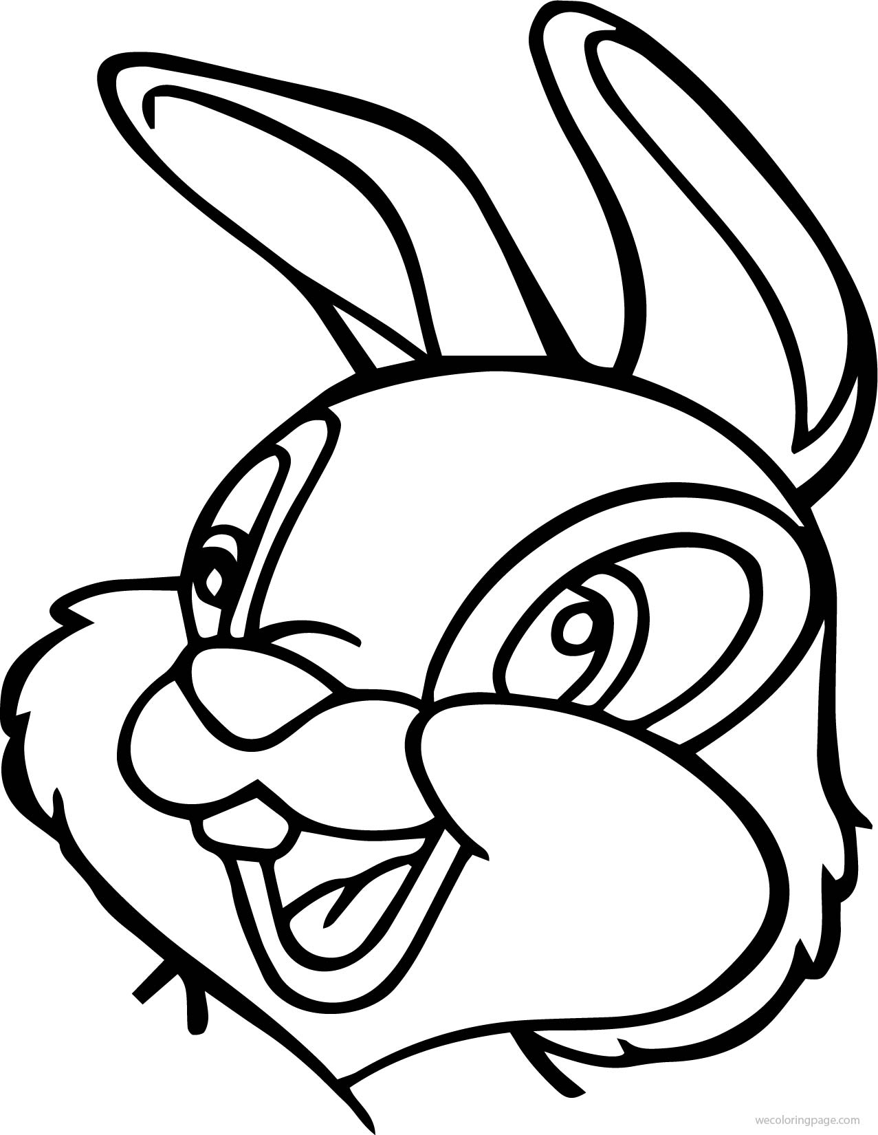 disney bambi thumber bunny bunny face cartoon coloring page