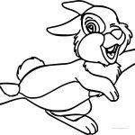 Disney Bambi Thumber Bunny Bunny Skate Cartoon Coloring Page