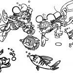 Disney Mickey Minnie Explore Underwater Shipwreck Coloring Page
