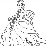 Disney The Princess And The Frog Staying Tiana Coloring Page