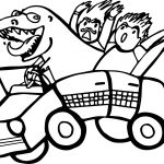 Dragon Taxi Driver Car Coloring Page