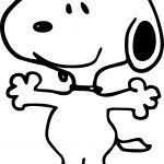Draw Snoopy Coloring Page