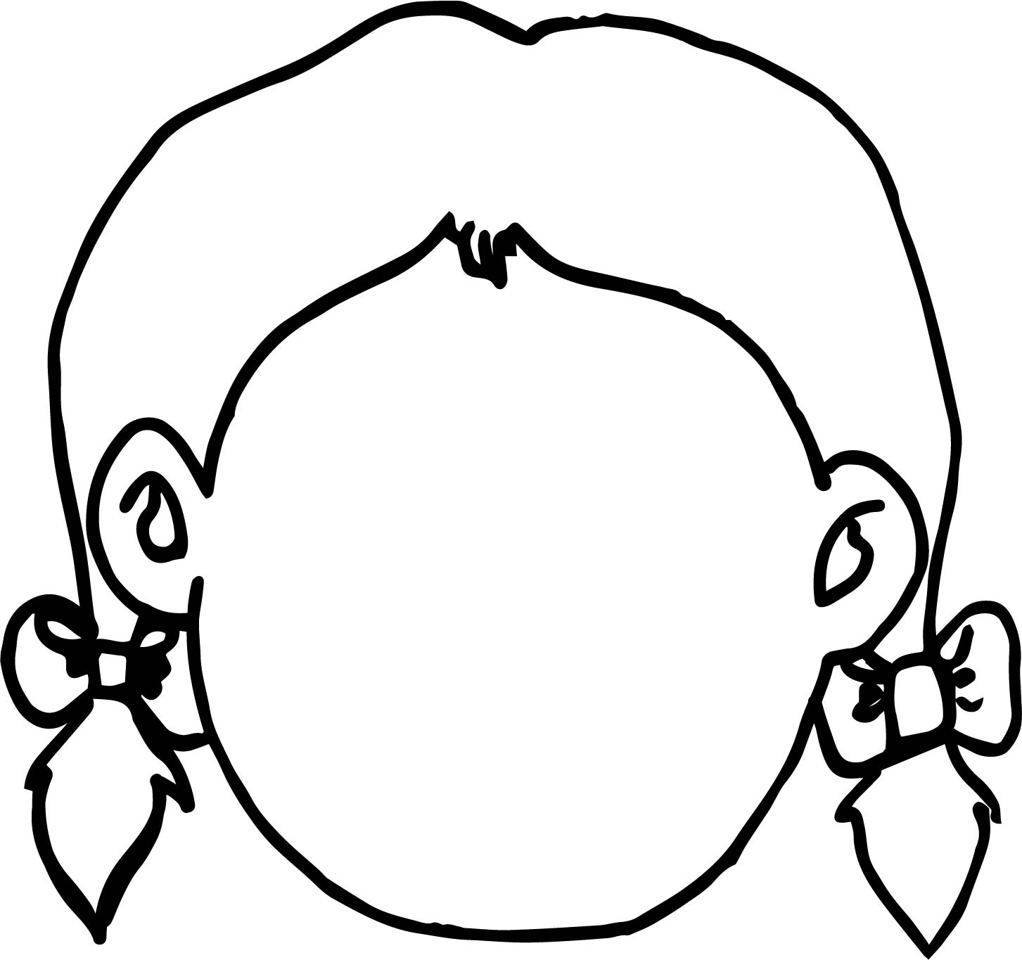 empty face coloring page wecoloringpage