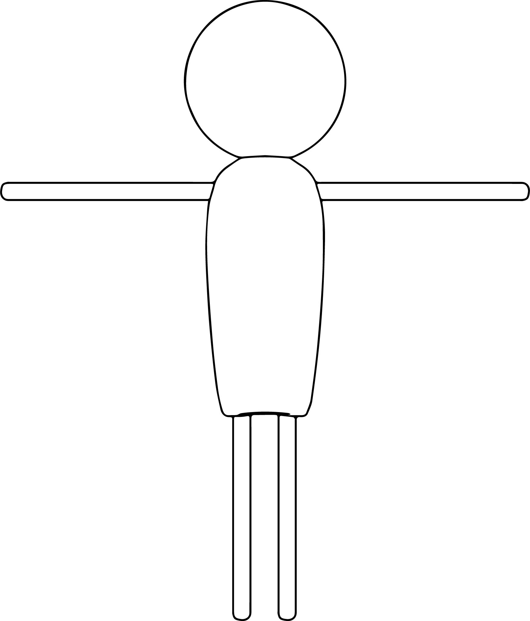 Empty Stick Man Coloring Page