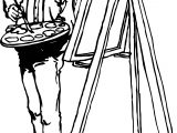 Experienced Painter Coloring Page