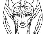 Face Ahsoka Tano Coloring Page