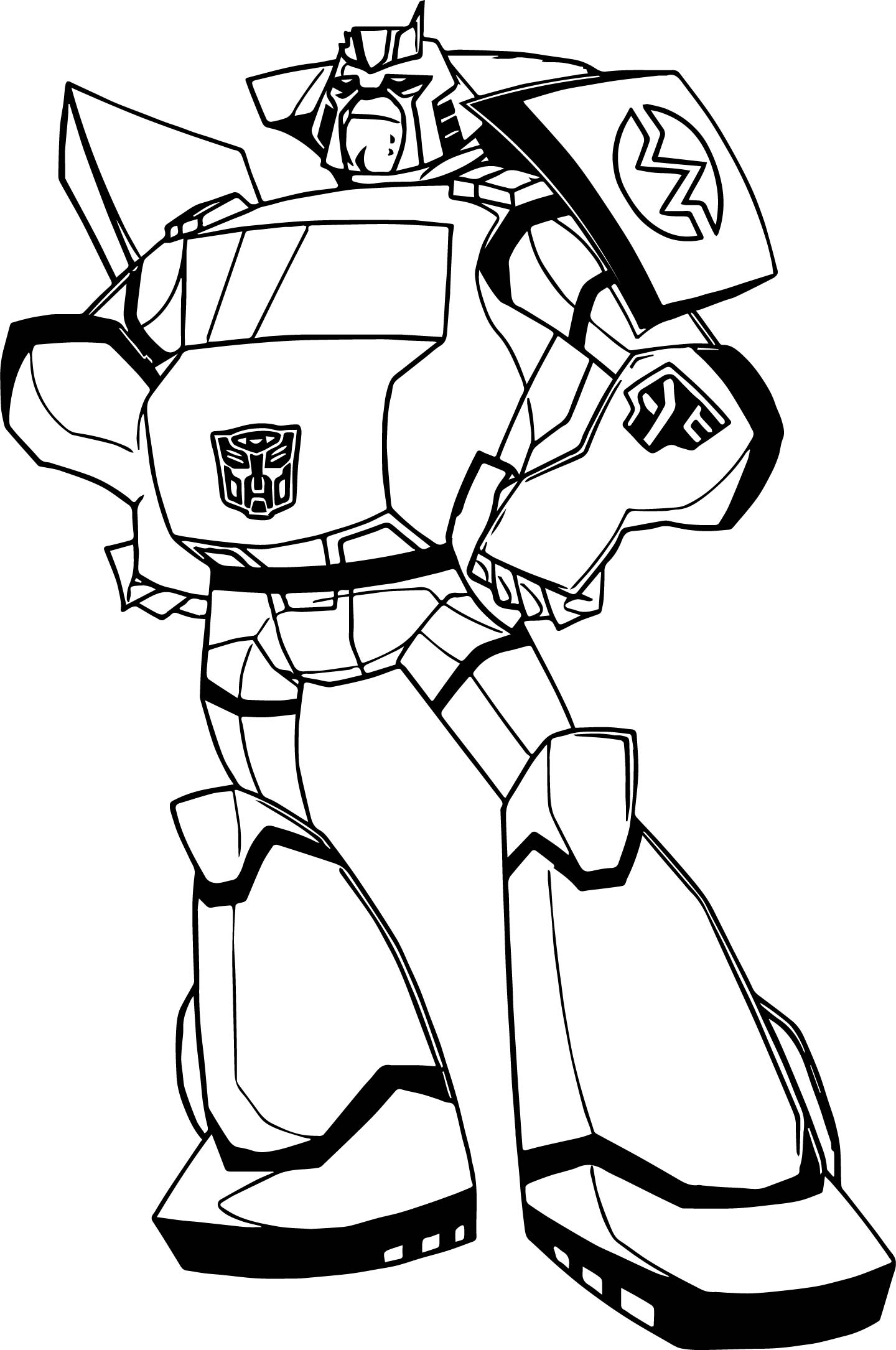Fat transformers coloring page for Transformers animated coloring pages