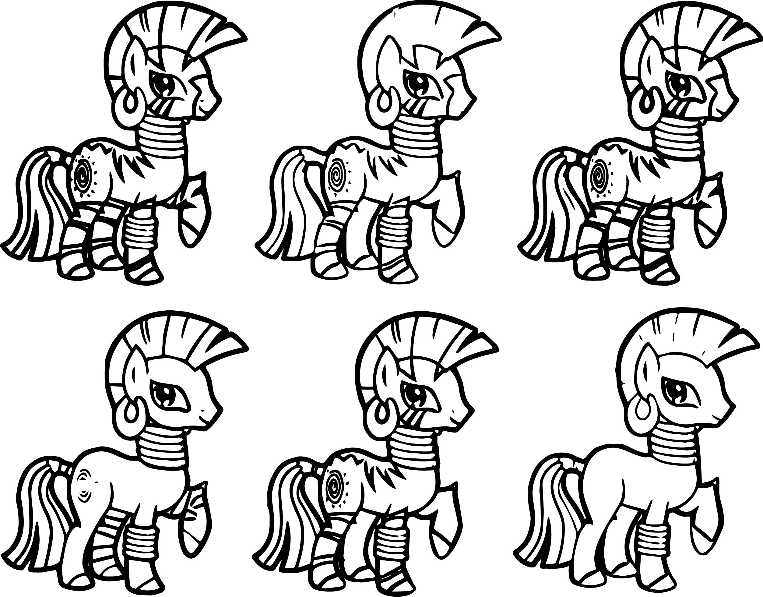 My Little Pony Zecora Coloring Pages : Fim skins zecora coloring page wecoloringpage