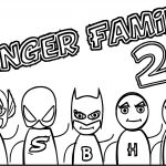 Finger Family Superheroes Super Hero Coloring Page