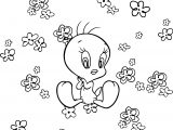 Flower Tweety Coloring Page