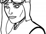 Flyer Pilot Woman Coloring Page