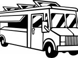 Food Delivery Truck Coloring Page