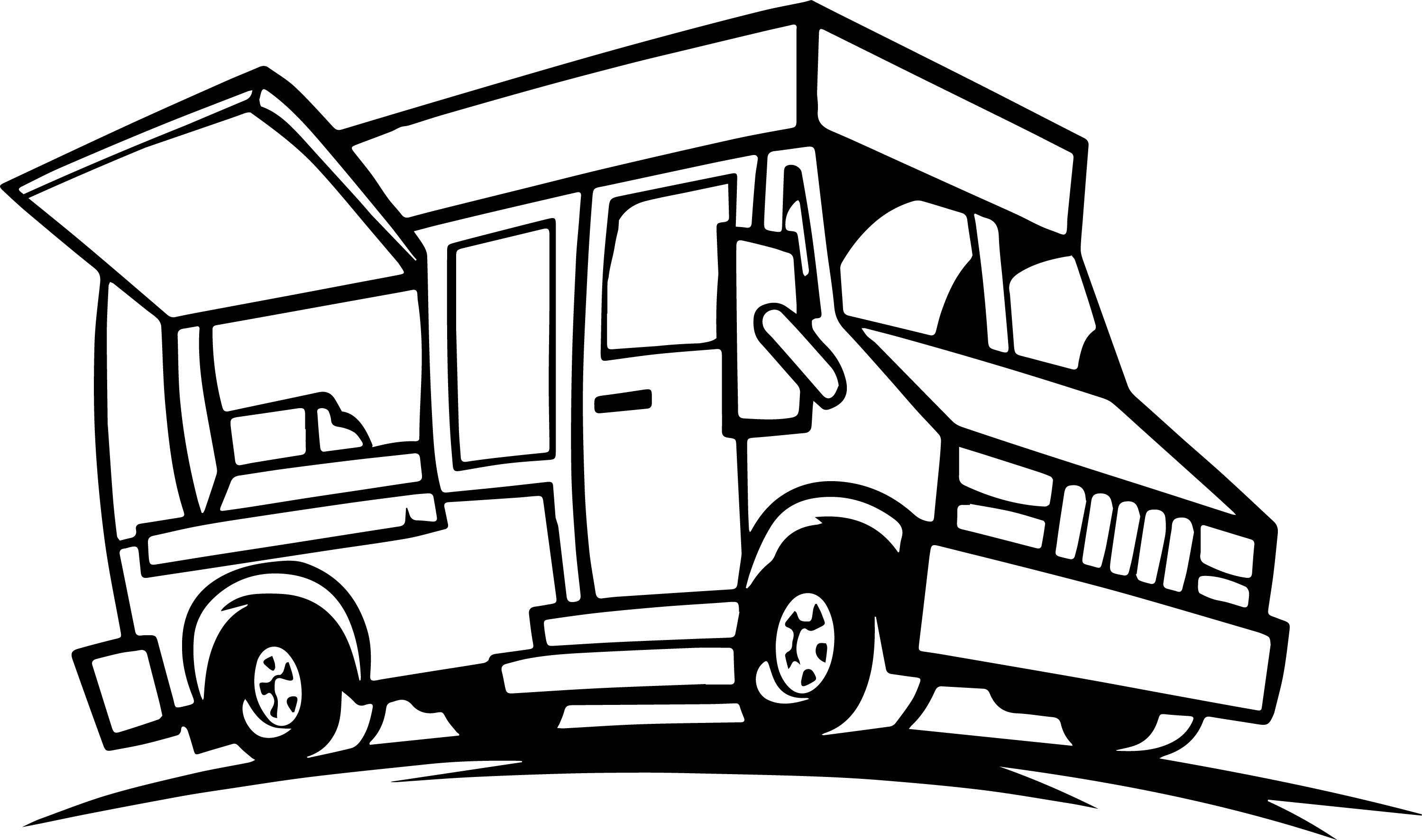 Food truck coloring page for Trucks coloring pages