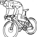Free Sports Bicycle Pictures Graphics Coloring Page