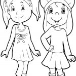 Friends Very Beautiful Girls Coloring Page
