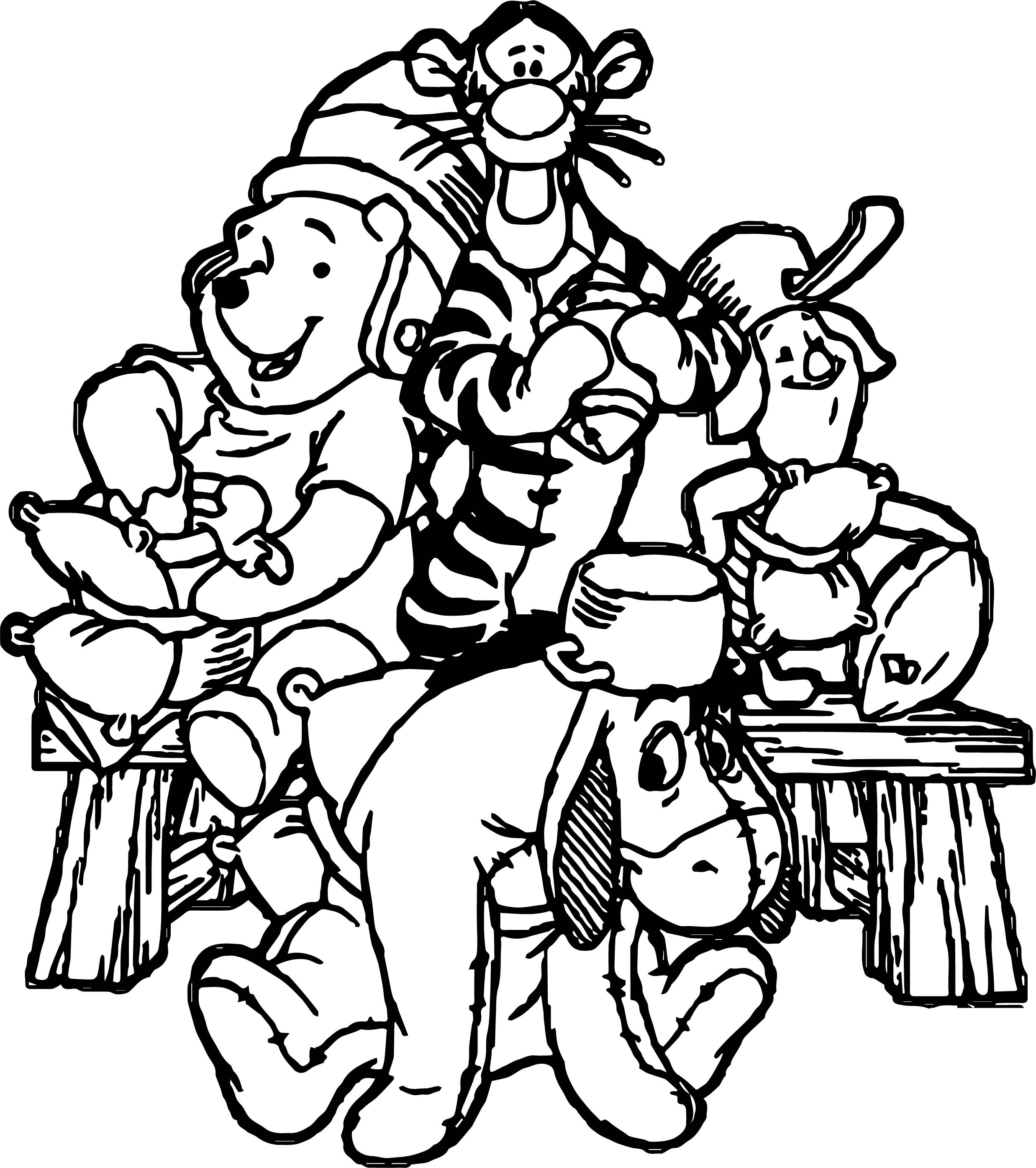 Friendship Cartoon Coloring Page