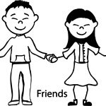 Friendship Children Coloring Page