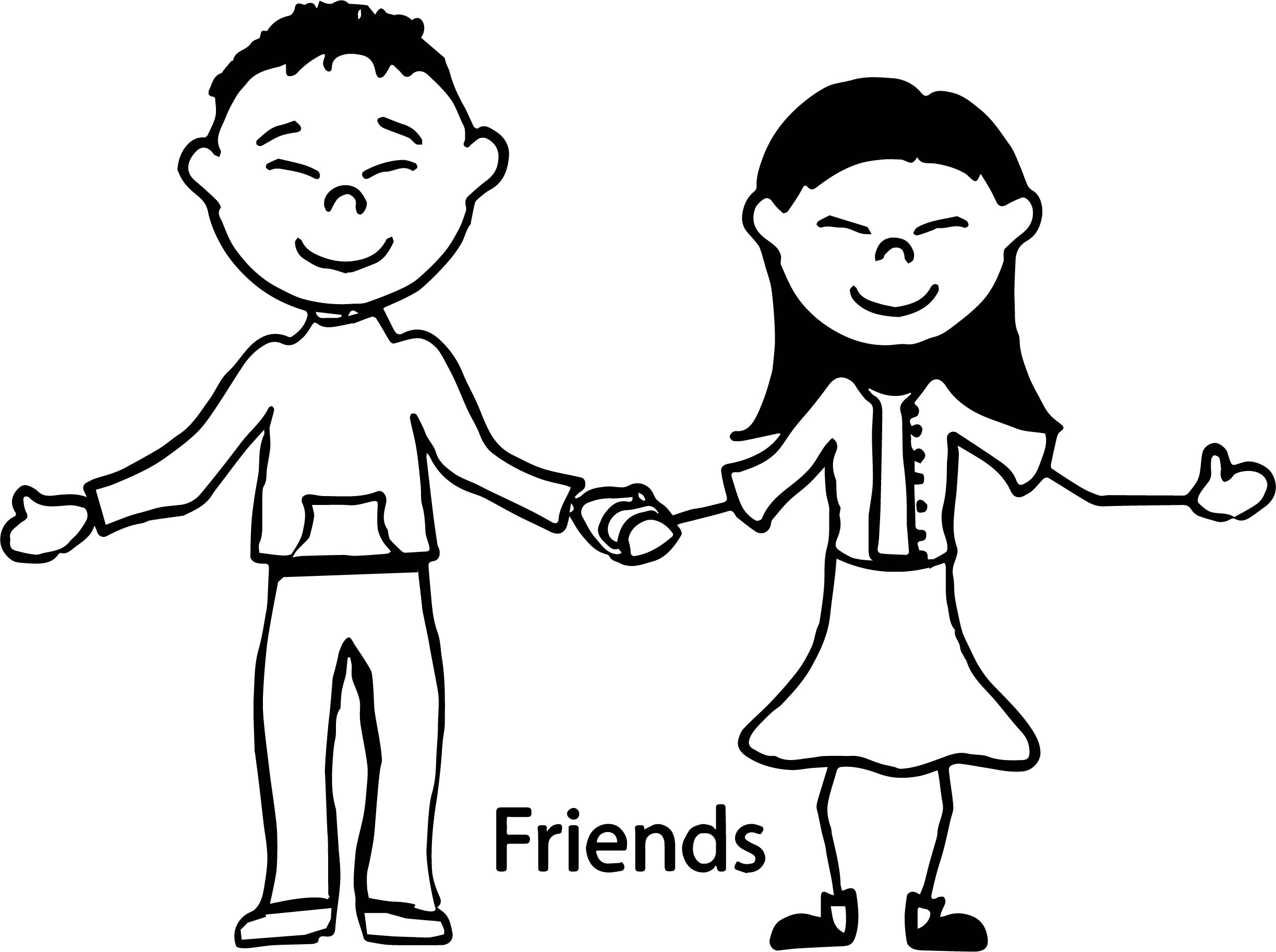friendship children coloring page wecoloringpage