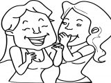 Friendship Girls Gossip Coloring Page