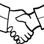 Friendship Handshake Coloring Page