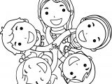 Friendship Kids Coloring Page