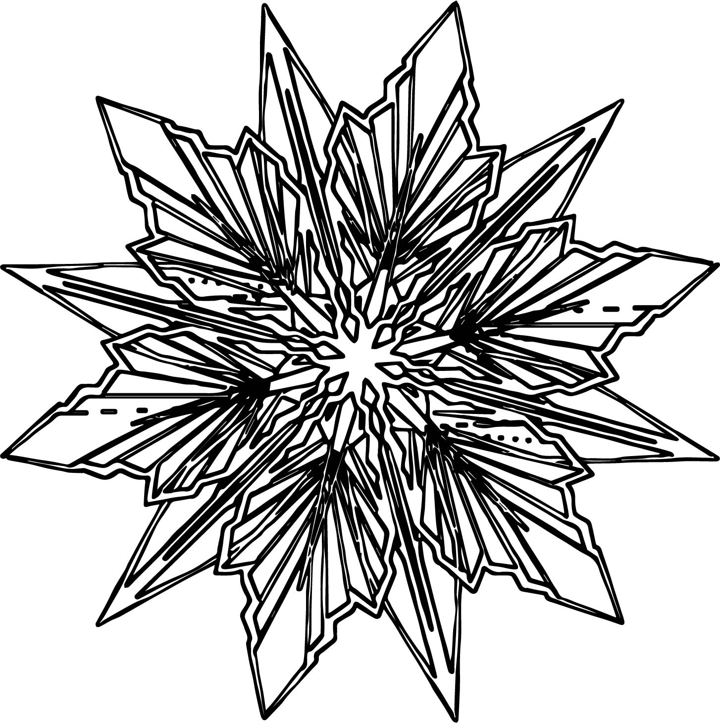 snowflakes coloring pages - frozen snowflake coloring page
