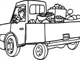 Fruit Truck Free Coloring Page