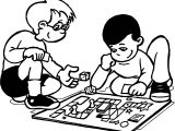 Funny Board Game Coloring Page