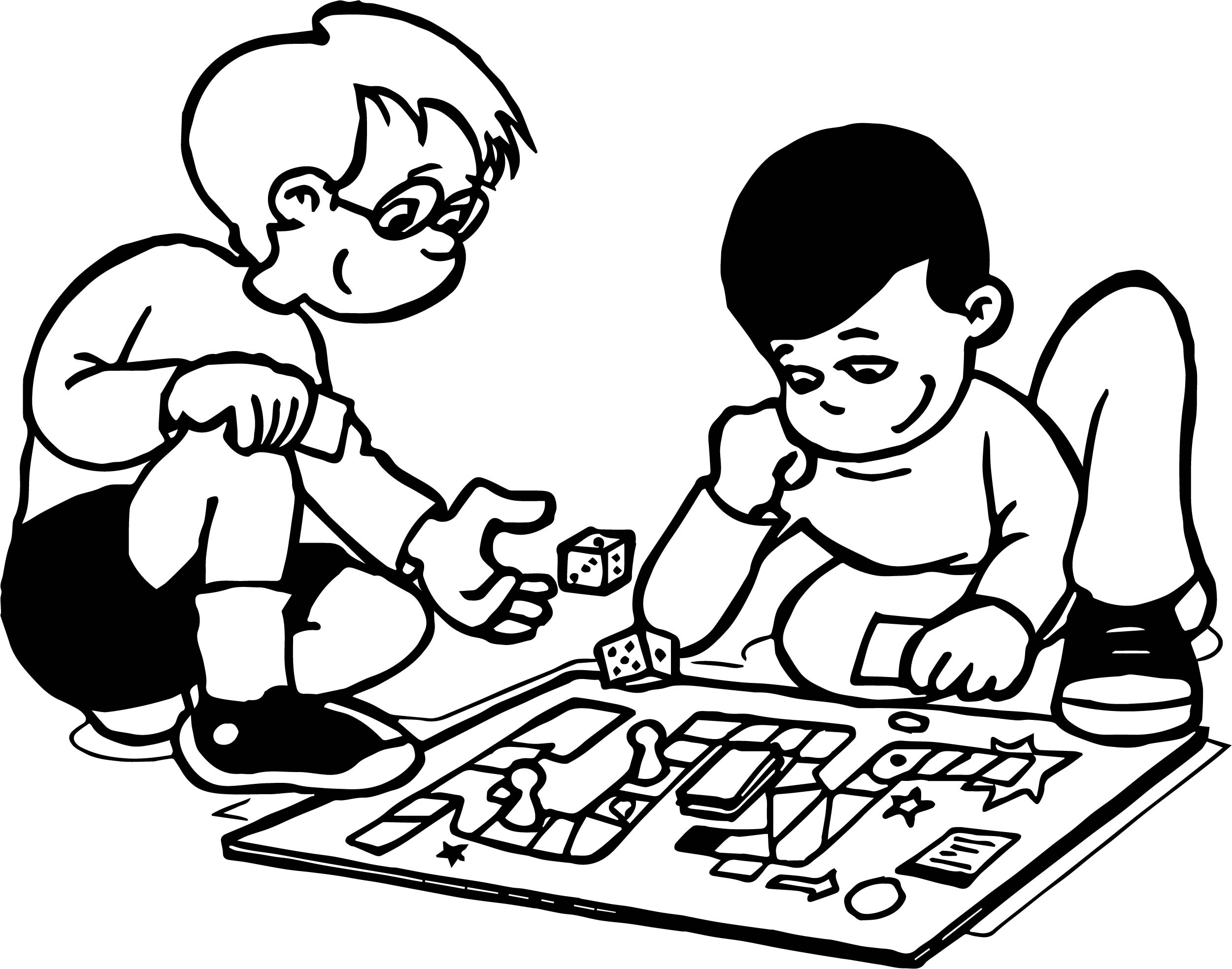 coloring pages games funny board game coloring page