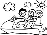 Funny Summer Yacht Kids Coloring Page