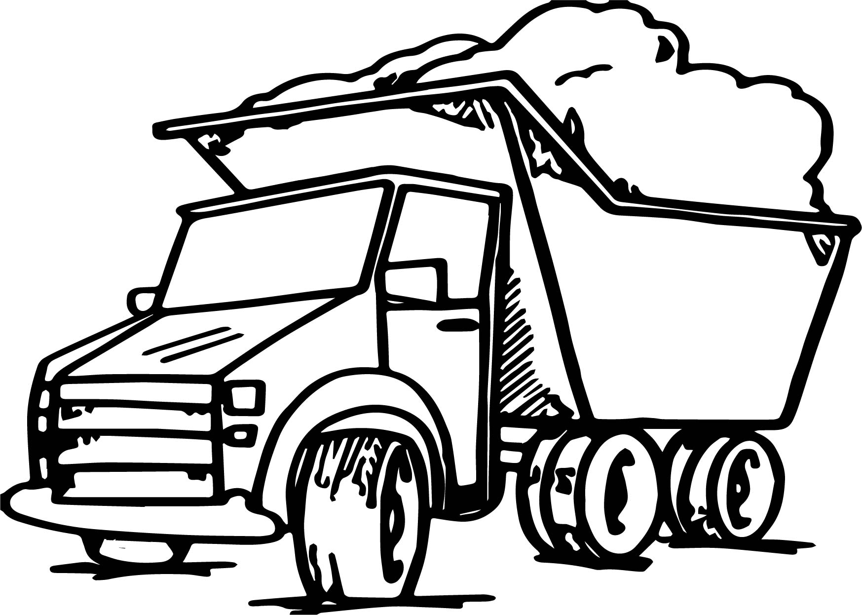Garbage truck coloring book - Garbage Truck Coloring Page