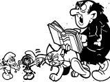 Gargamel Azrael Smurfette And Hefty Smurf Coloring Page
