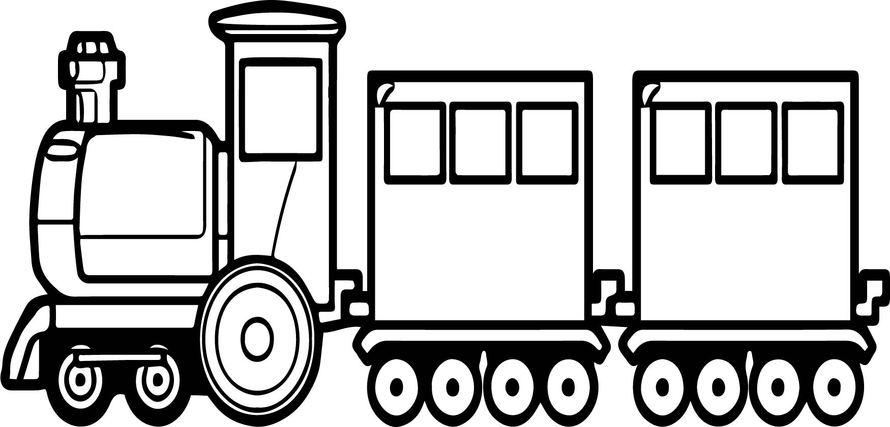 go train coloring page