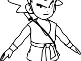 Goku Manga Anime Cartoon Character Coloring Page