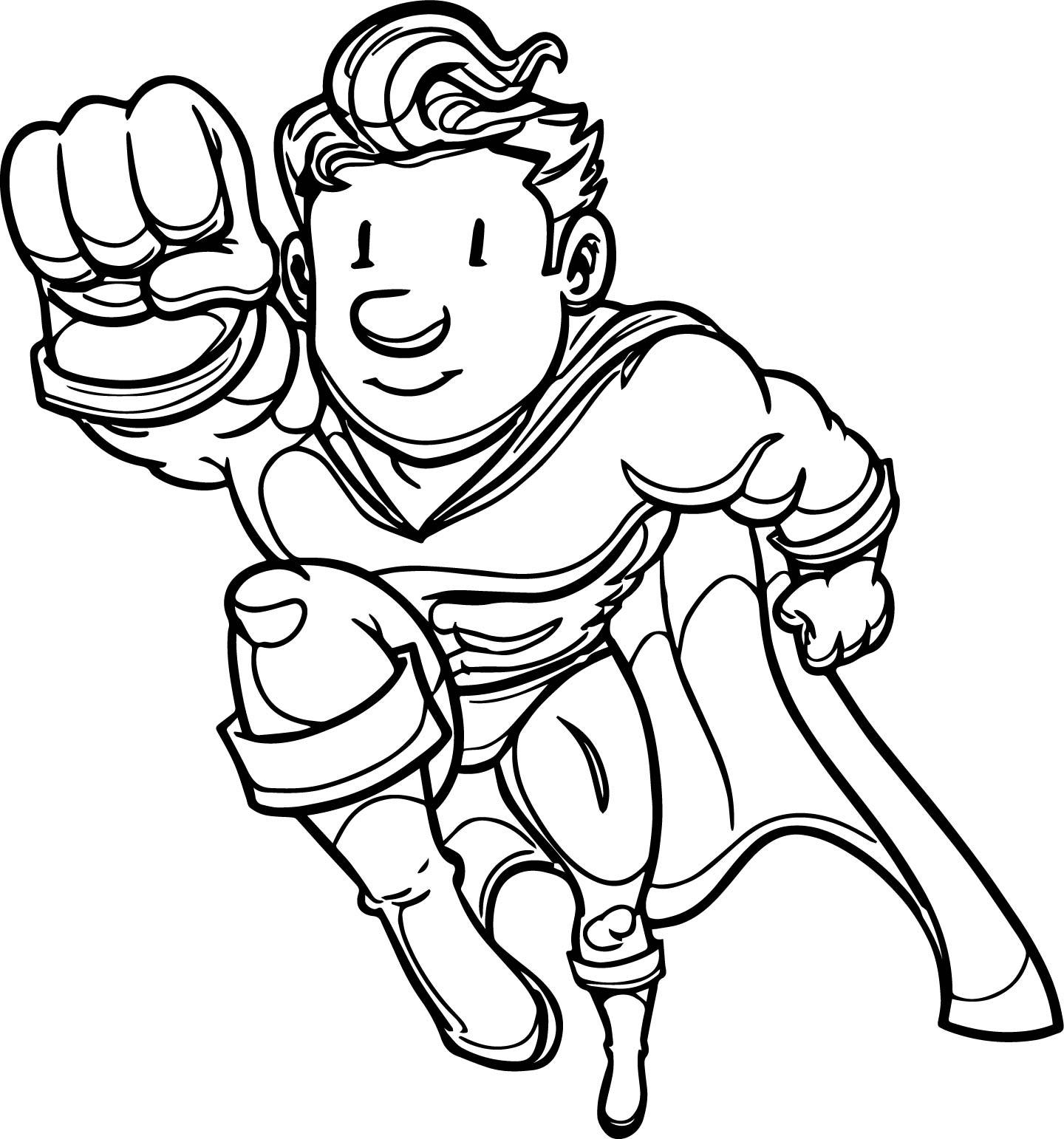 Good Superheroes Man Super Hero Coloring Page