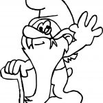 Grandpa Smurf Glovey Story Coloring Page
