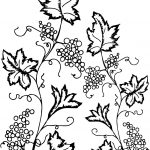 Grape Leaf Ivy Coloring Page