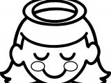 Halo A Little Girl Angel With Halo Over Her Head Coloring Page