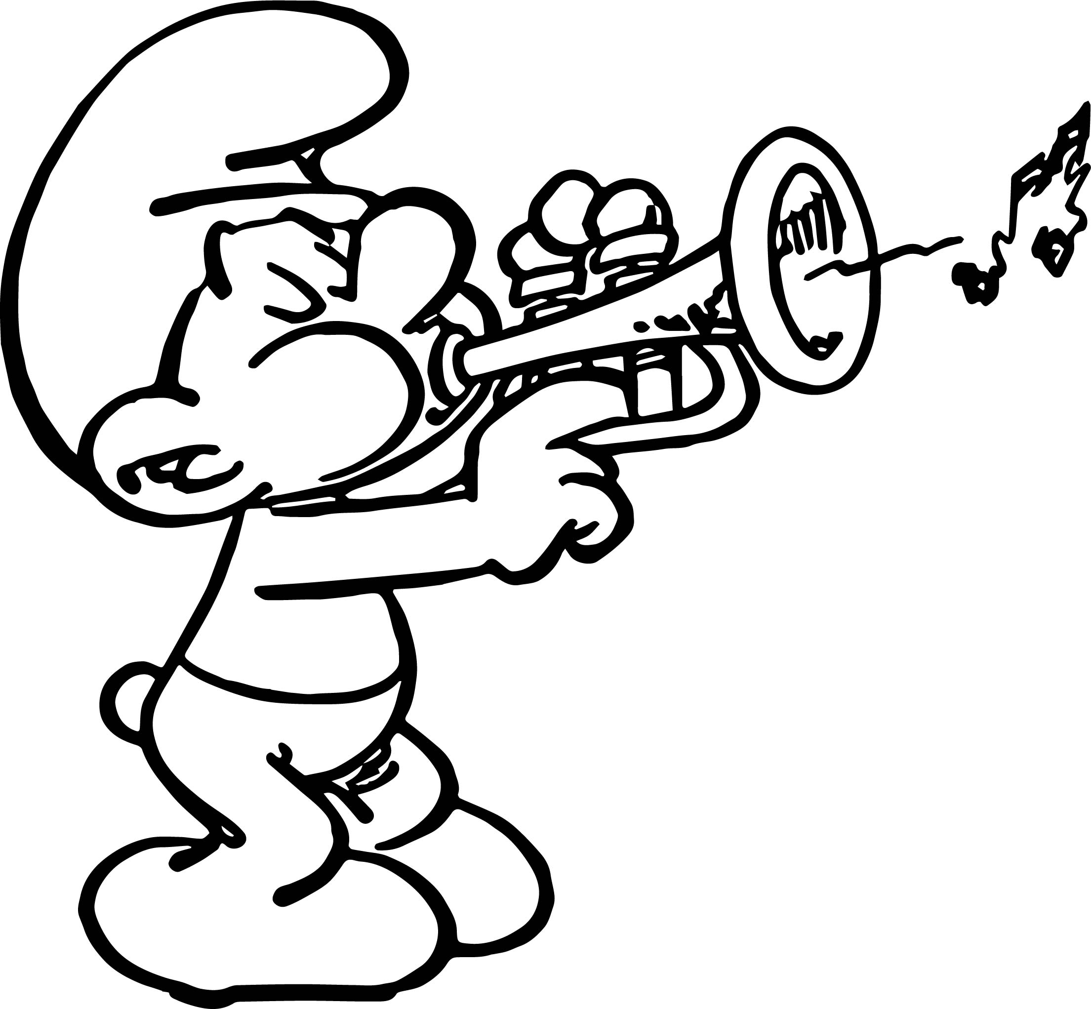 Harmony Plays Smurf Song Coloring Page