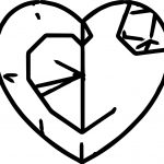 Heart Abstract Coloring Page