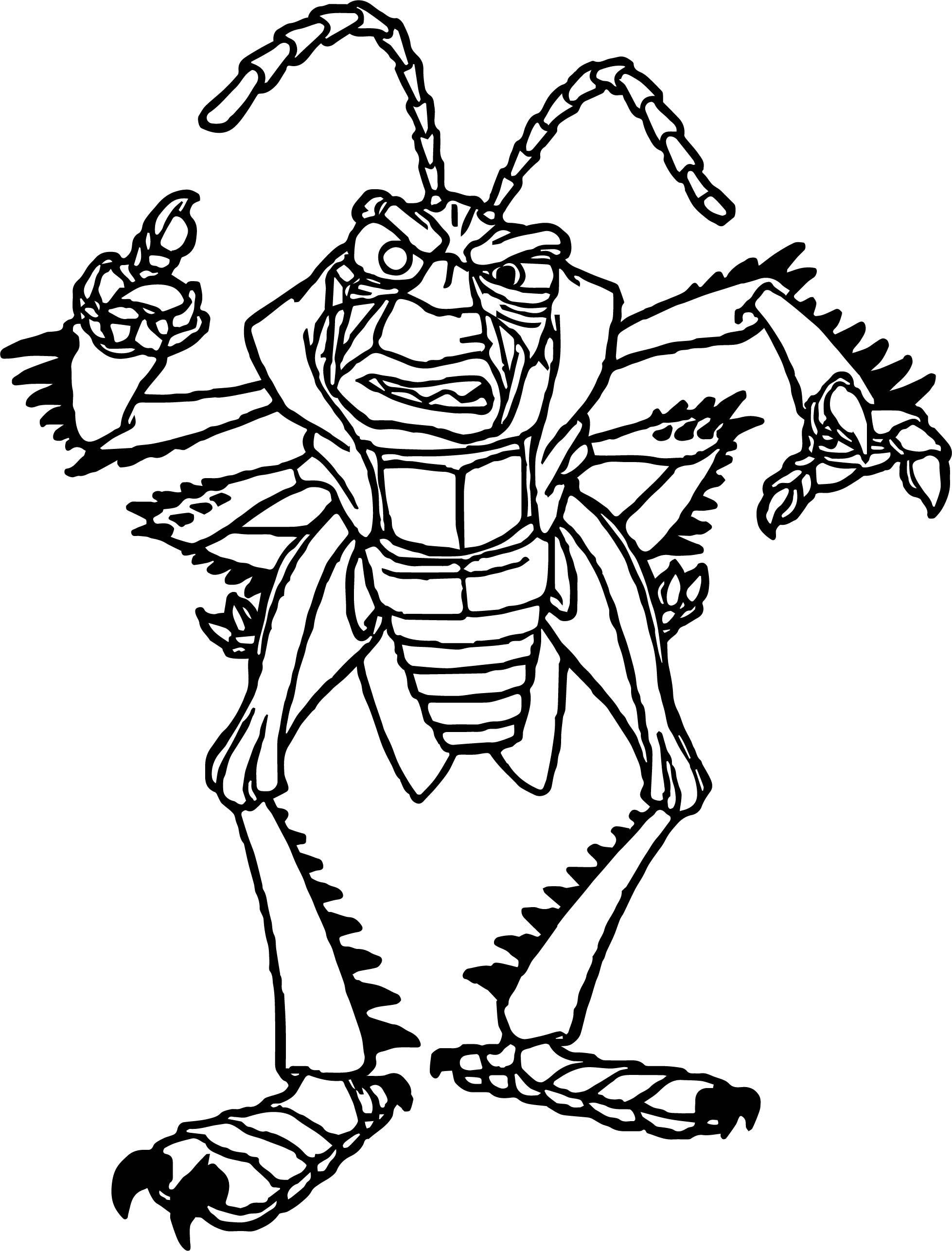 hopper angry bugs coloring page wecoloringpage
